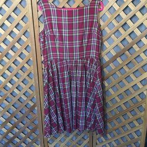 Pretty in Plaid XL Retro Lindy Bop Dress Pinup
